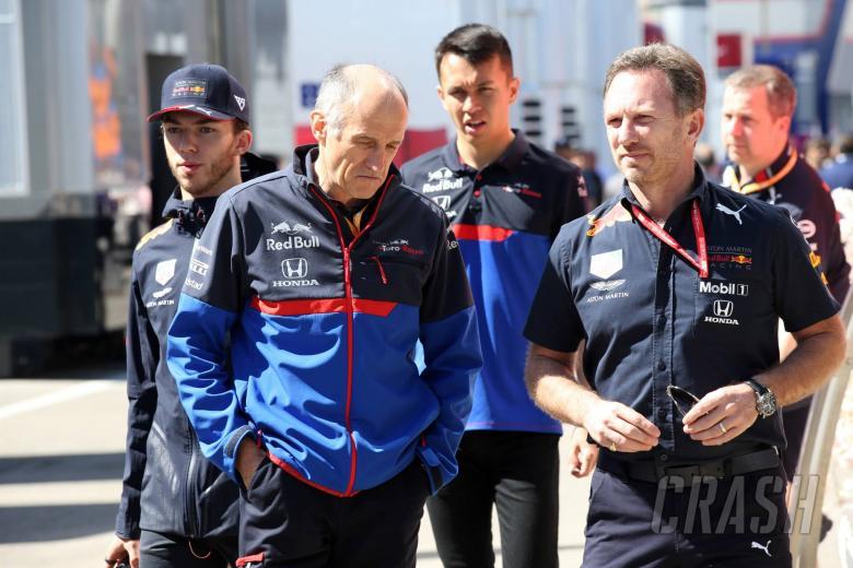 12.05.2019 - (L-R) Pierre Gasly (FRA) Red Bull Racing RB15, Franz Tost, Scuderia Toro Rosso, Team Principal, Alexander Albon (THA) Scuderia Toro Rosso STR14 and Christian Horner (GBR), Red Bull Racing Team Principal
