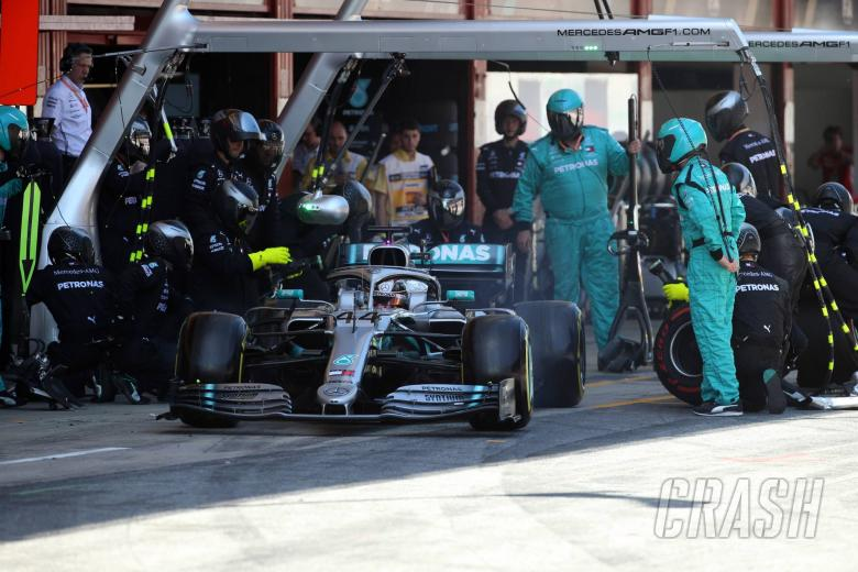 12.05.2019 - Race, Pit stop, Lewis Hamilton (GBR) Mercedes AMG F1 W10