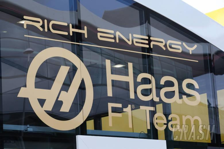 11.07.2019- Haas F1 Team logo with Rich Energy Brand