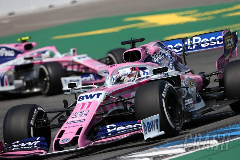 26.07.2019 - Free Practice 2, Sergio Perez (MEX) Racing Point F1 Team RP19 and Lance Stroll (CDN) Racing Point F1 Team RP19