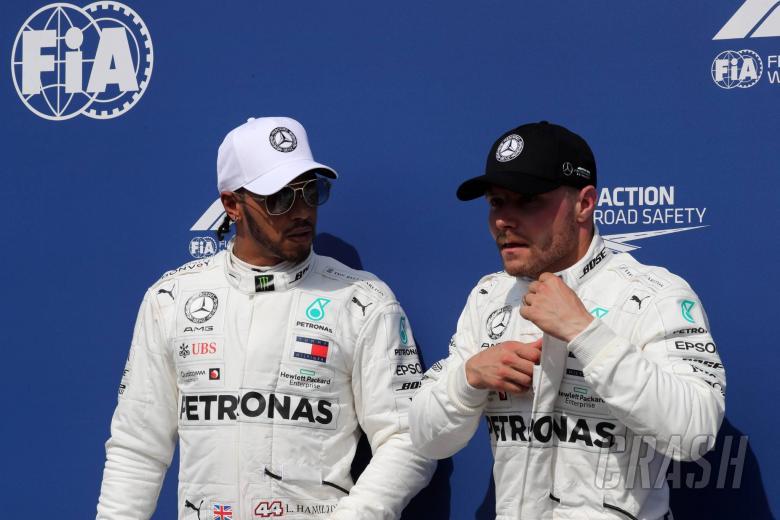 27.07.2019 - Qualifying, Lewis Hamilton (GBR) Mercedes AMG F1 W10 pole position and 3rd place Valtteri Bottas (FIN) Mercedes AMG F1 W010