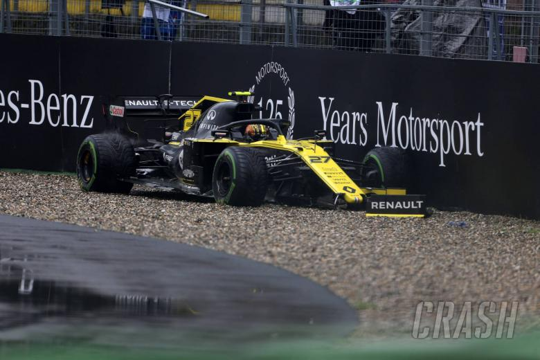 28.07.2019 - Race, Nico Hulkenberg (GER) Renault Sport F1 Team RS19 retires from the race