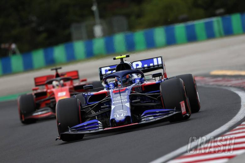 02.08.2019 - Free Practice 1, Sebastian Vettel (GER) Scuderia Ferrari SF90 and Alexander Albon (THA) Scuderia Toro Rosso STR14