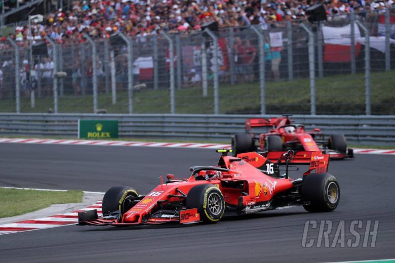 04.08.2019 - Race, Charles Leclerc (MON) Scuderia Ferrari SF90 leads Sebastian Vettel (GER) Scuderia Ferrari SF90
