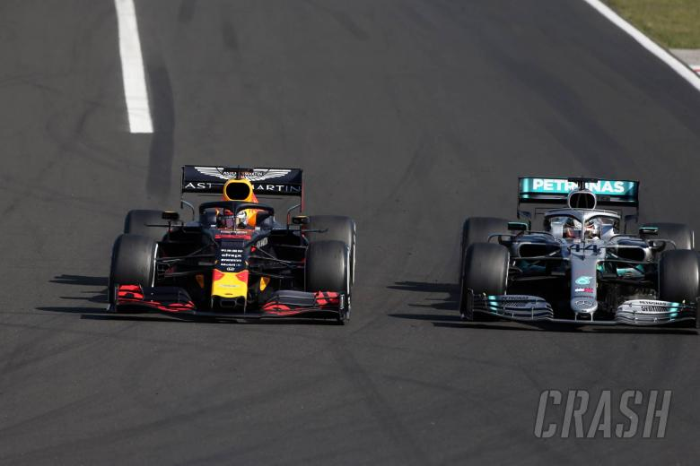 04.08.2019 - Race, Max Verstappen (NED) Red Bull Racing RB15 and Lewis Hamilton (GBR) Mercedes AMG F1 W10