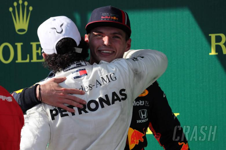 04.08.2019 - Race, Lewis Hamilton (GBR) Mercedes AMG F1 W10 race winner and 2nd place Max Verstappen (NED) Red Bull Racing RB15