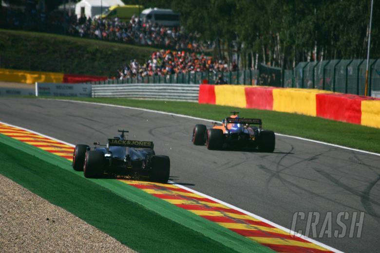 31.08.2019 - Romain Grosjean (FRA) Haas F1 Team VF-19 and Carlos Sainz Jr (ESP) Mclaren F1 Team MCL34