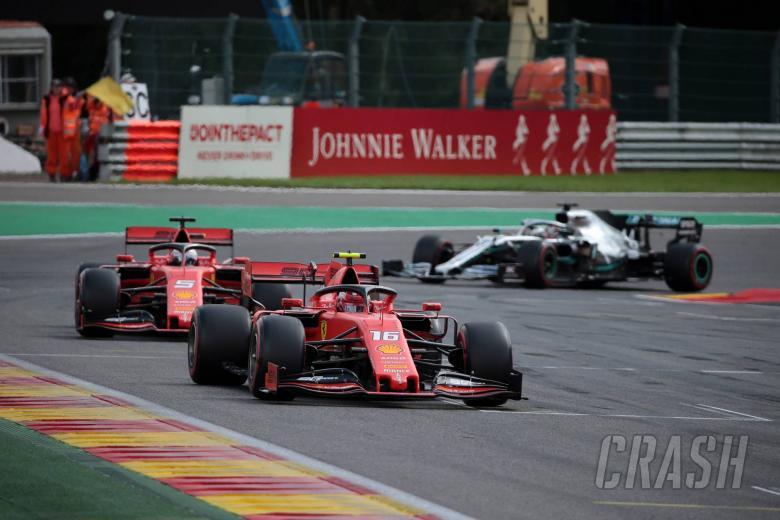 01.09.2019 - Race, Charles Leclerc (MON) Scuderia Ferrari SF90 leads Sebastian Vettel (GER) Scuderia Ferrari SF90