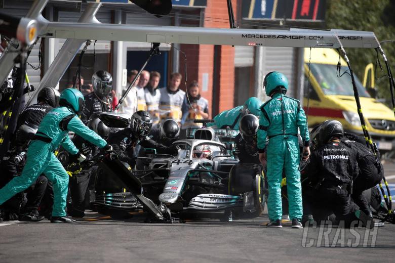 Mercedes explains Hamilton's pit stop time loss at Spa