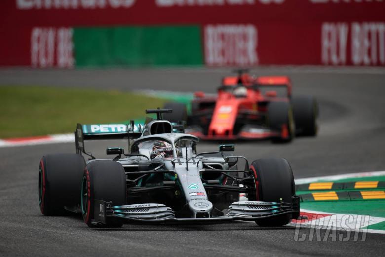 06.09.2019 - Free Practice 1, Lewis Hamilton (GBR) Mercedes AMG F1 W10 and Sebastian Vettel (GER) Scuderia Ferrari SF90