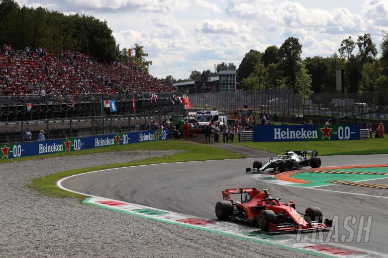 08.09.2019 - Race, Charles Leclerc (MON) Scuderia Ferrari SF90 and Lewis Hamilton (GBR) Mercedes AMG F1 W10