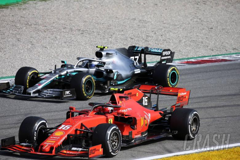 08.09.2019 - Race, Charles Leclerc (MON) Scuderia Ferrari SF90 race winner and 2nd place Valtteri Bottas (FIN) Mercedes AMG F1 W010
