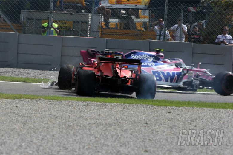 08.09.2019 - Race, Crash, Sebastian Vettel (GER) Scuderia Ferrari SF90 and Lance Stroll (CDN) Racing Point F1 Team RP19