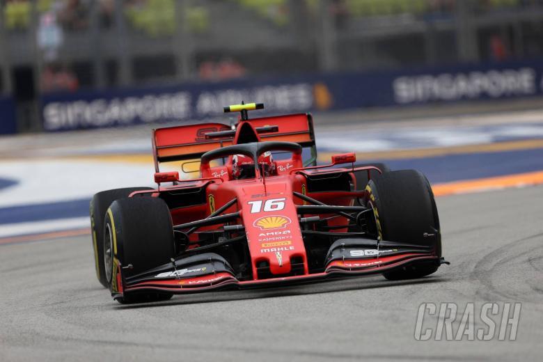 Leclerc tops Singapore FP3 to put Ferrari in pole fight