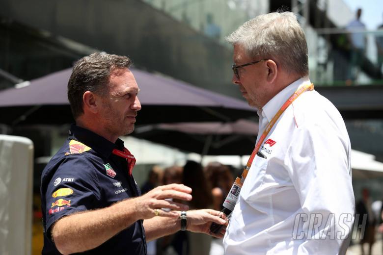 17.11.2019 - Christian Horner (GBR), Red Bull Racing Team Principal and Ross Brawn (GBR) Formula One Managing Director of Motorsports