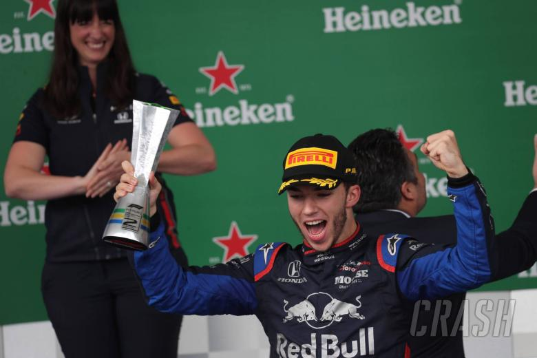 17.11.2019 - Race, 2nd place Pierre Gasly (FRA) Scuderia Toro Rosso STR14
