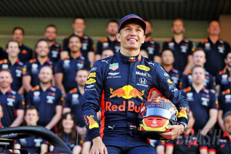 Alexander Albon (THA) Red Bull Racing at a team photograph. 28.11.2019.