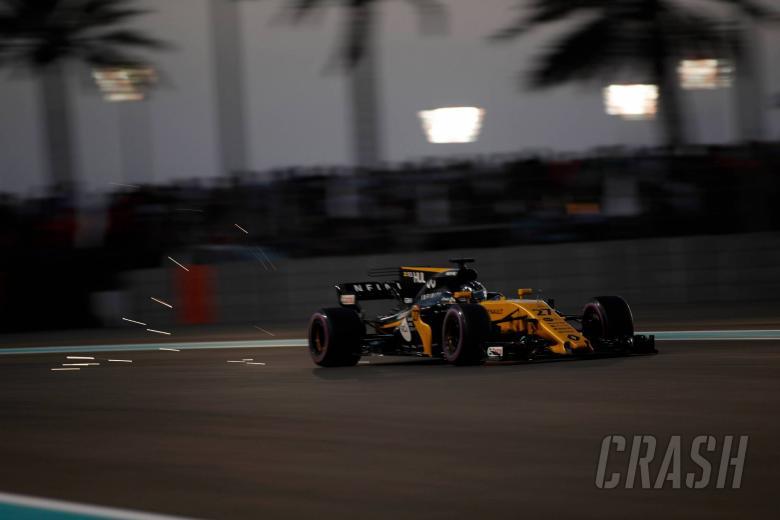 Hartley on the back of Abu Dhabi GP grid