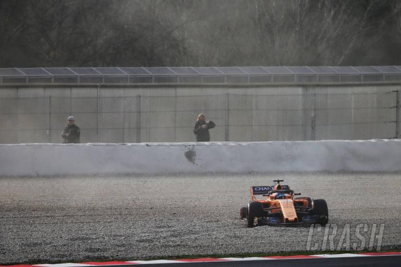 Fernando Alonso's wheel FALLS OFF his vehicle as McLaren crashes