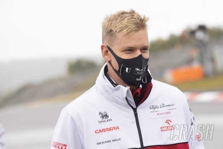 Mick Schumacher (GER) Alfa Romeo Racing Test Driver walks the circuit.