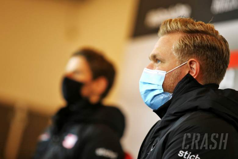 Kevin Magnussen (DEN) Haas F1 Team in the FIA Press Conference.