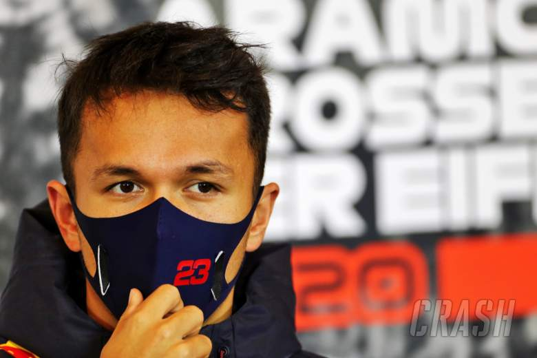 Alexander Albon (THA) Red Bull Racing in the FIA Press Conference.