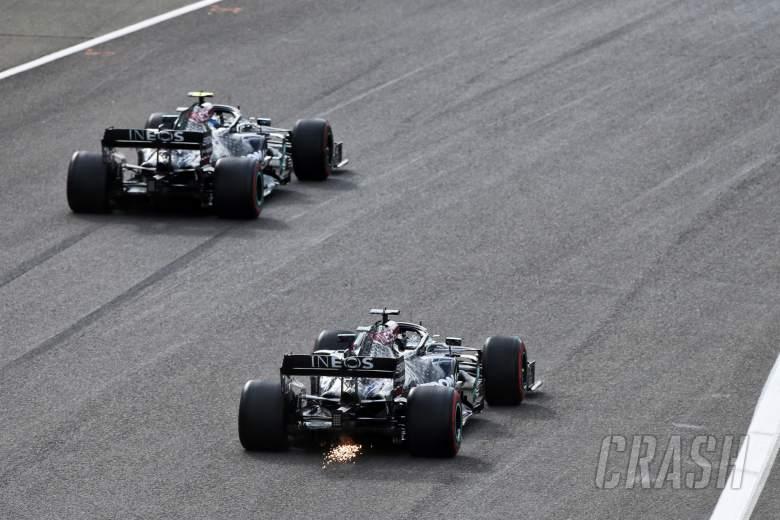 Valtteri Bottas (FIN) Mercedes AMG F1 W11 and Lewis Hamilton (GBR) Mercedes AMG F1 W11.