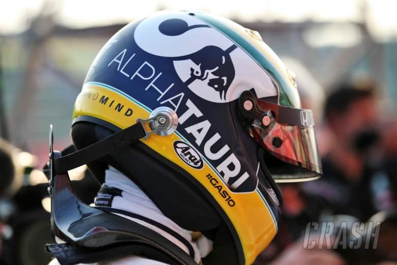 Pierre Gasly (FRA) AlphaTauri in qualifying parc ferme.