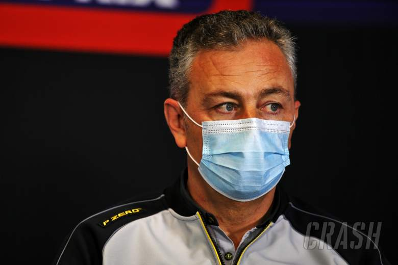 Mario Isola (ITA) Pirelli Racing Manager in the FIA Press Conference.