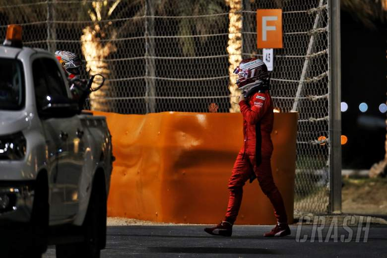 Charles Leclerc (MON) Ferrari and Max Verstappen (NLD) Red Bull Racing retired from the race.