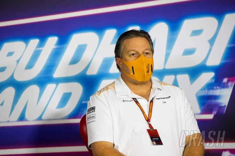 Zak Brown (USA) McLaren Executive Director in the FIA Press Conference.