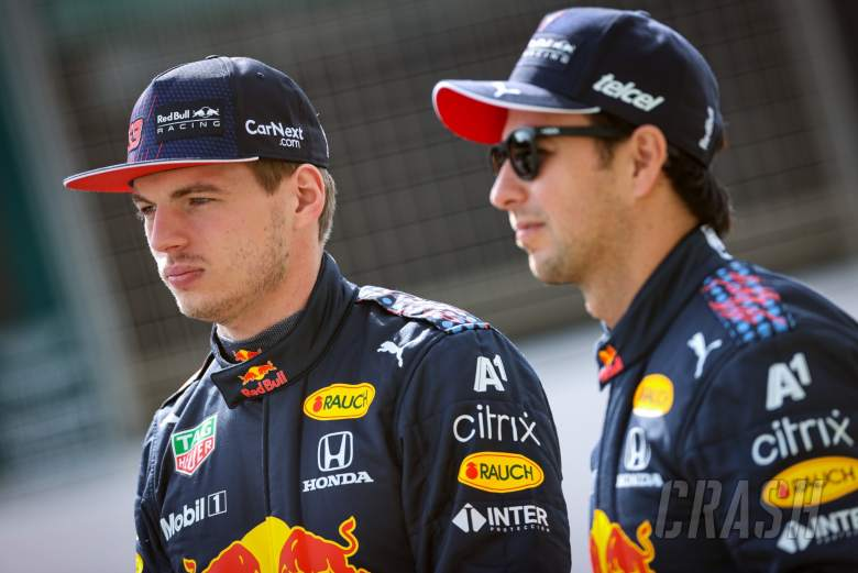 Max Verstappen (NLD), Red Bull Racing and Sergio Perez (MEX), Red Bull Racing