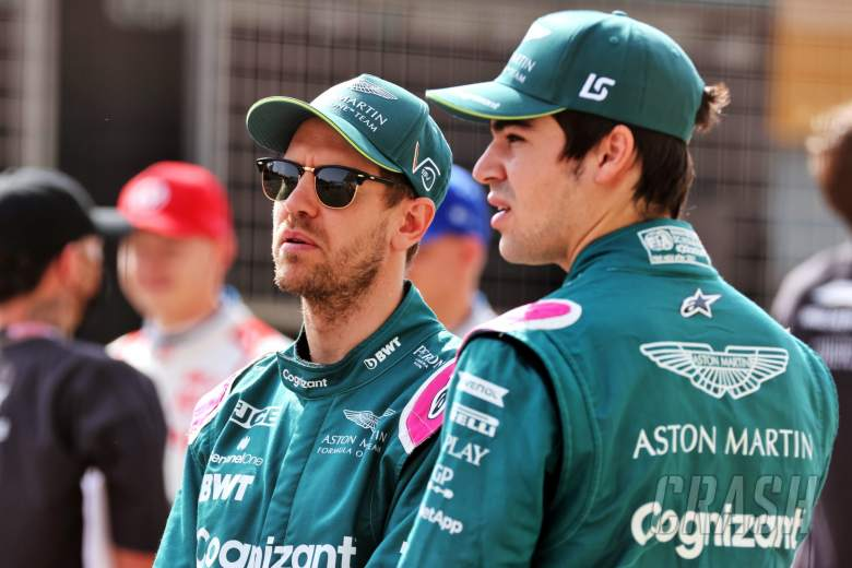(L to R): Sebastian Vettel (GER) Aston Martin F1 Team and Lance Stroll (CDN) Aston Martin F1 Team.