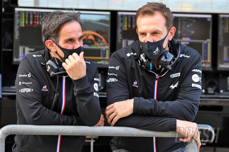 (L to R): Davide Brivio (ITA) Alpine F1 Team Racing Director with Laurent Rossi (FRA) Alpine Chief Executive Officer.