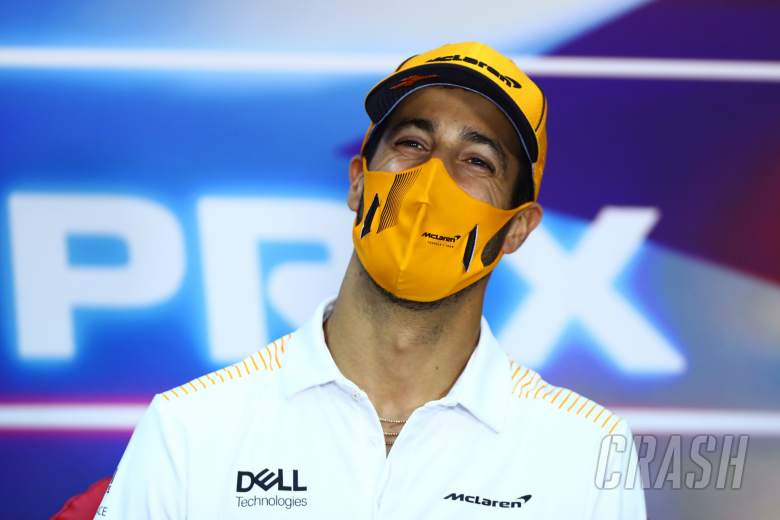 Daniel Ricciardo (AUS) McLaren in the FIA Press Conference.