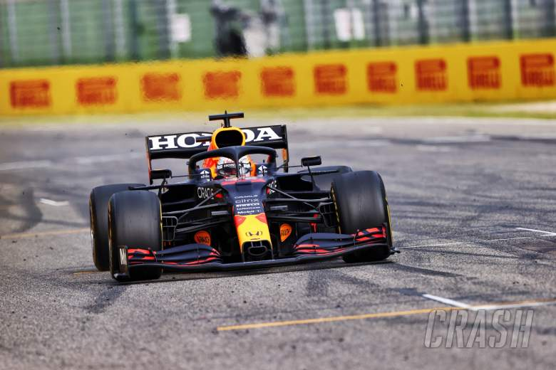 Race winner Max Verstappen (NLD) Red Bull Racing RB16B celebrates at the end of the race.