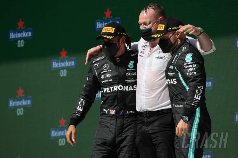 1st place Lewis Hamilton (GBR) Mercedes AMG F1 W12, 3rd place Valtteri Bottas (FIN) Mercedes AMG F1.