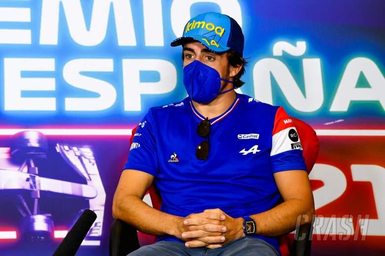 Fernando Alonso (ESP) Alpine F1 Team in the FIA Press Conference.
