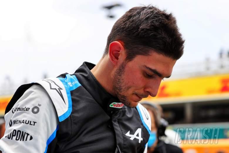 Esteban Ocon (FRA) Alpine F1 Team on the grid.