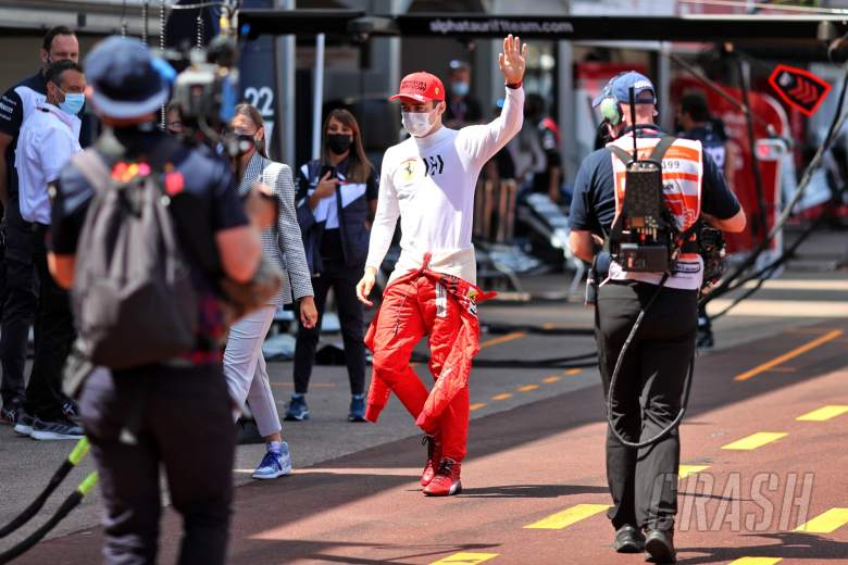 Charles Leclerc (MON) Ferrari, who is not starting the race.