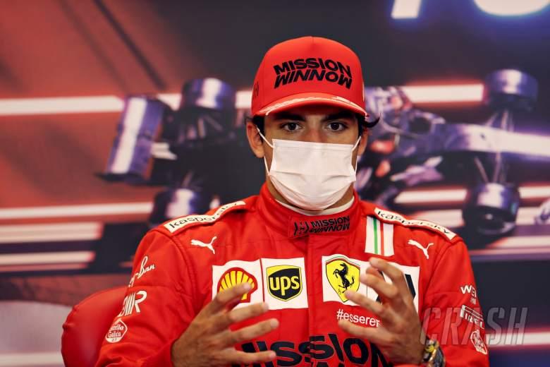 Carlos Sainz Jr (ESP) Ferrari in the post race FIA Press Conference.