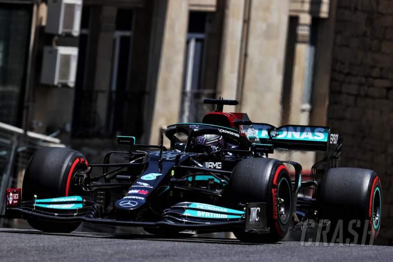 Lewis Hamilton (GBR) Mercedes AMG F1 W12.