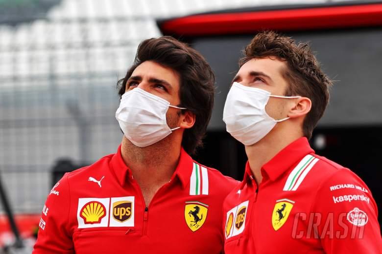 (L to R): Carlos Sainz Jr (ESP) Ferrari with team mate Charles Leclerc (MON) Ferrari.