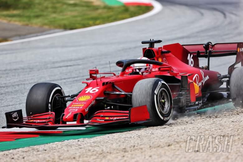 Charles Leclerc (MON) Ferrari SF-21 runs wide.