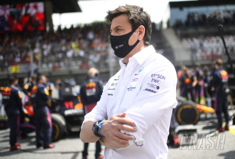 Toto Wolff (GER) Mercedes AMG F1 Shareholder and Executive Director on the grid.