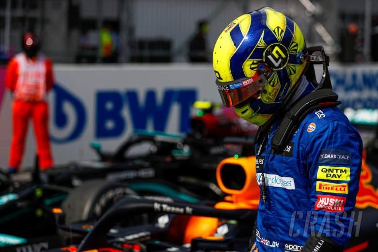 Third placed Lando Norris (GBR) McLaren in parc ferme.