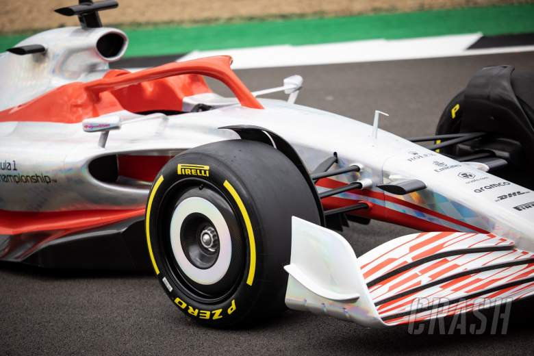 2022 Car Launch - front wing and trye detail.