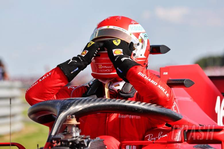Second placed Charles Leclerc (MON) Ferrari SF-21 in parc ferme.