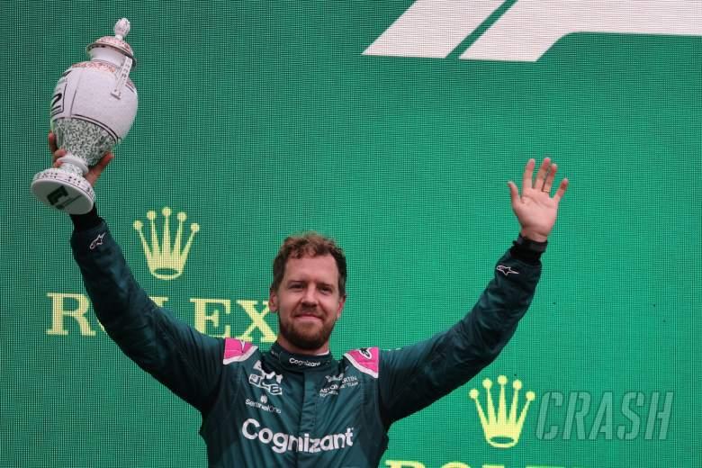 2nd place Sebastian Vettel (GER) Aston Martin F1 Team AMR21.