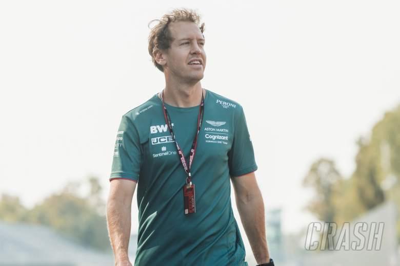 Sebastian Vettel (GER) Aston Martin F1 Team walks the circuit.